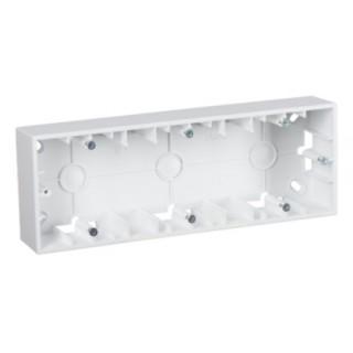 Коробка для наружного монтажа 3 местная Simon 1590753-030 белый