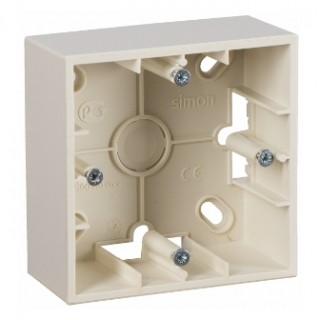 Коробка для наружного монтажа 1 местная Simon 1590751-031 слоновая кость