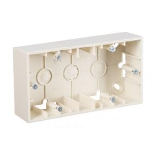 Коробка для наружного монтажа 2 местная Simon 1590752-031 слоновая кость
