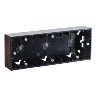 Коробка для наружного монтажа 3 местная Simon 1590753-032 черный