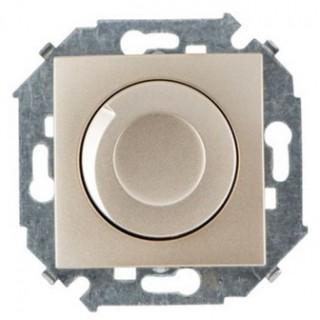 Регулятор напряжения поворотно-нажимной Simon 1591311-034, 500W шампань