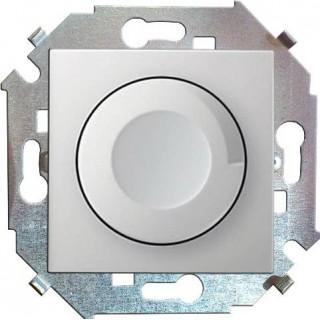 Регулятор напряжения поворотно-нажимной Simon 1591311-033, 500w алюминий