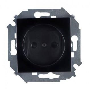 Розетка 2Р (без заземления) Simon 1591431-032 черный