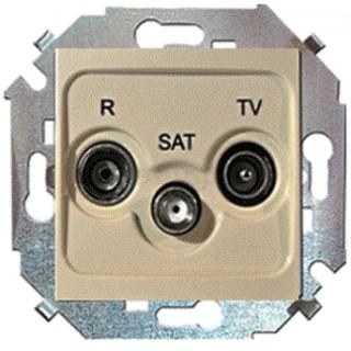 Розетка R-TV-SAT одиночная Simon 1591466-034 шампань