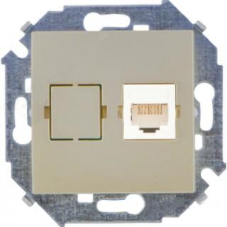 Розетка компьютерная RJ-45 CAT5e Simon 1591598-034 шампань