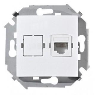 Розетка телефонная RJ-11 Simon 1591480-030 белый