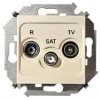 Розетка R-TV-SAT одиночная Simon 1591466-031 слоновая кость
