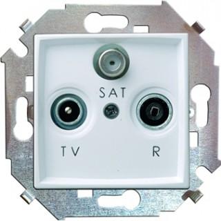 Розетка R-TV-SAT одиночная Simon 1591466-030 белый