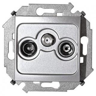 Розетка R-TV-SAT одиночная Simon 1591466-033 алюминий