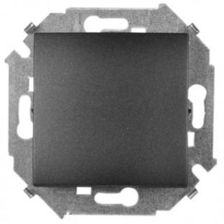 Выключатель одноклавишный Simon 1591101-038 графит
