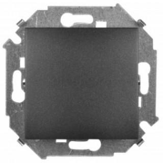 Выключатель одноклавишный проходной Simon 1591201-038 графит