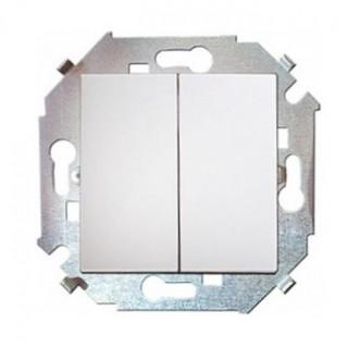Выключатель двухклавишный проходной Simon 1591397-030 белый