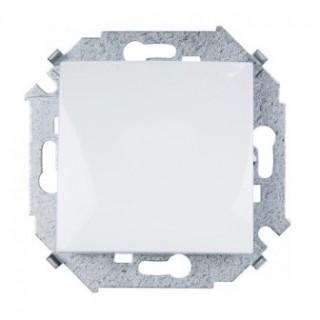 Выключатель одноклавишный Simon 1591101-030 белый