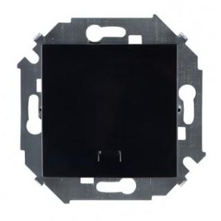 Выключатель одноклавишный с подсветкой Simon 1591104-032 черный