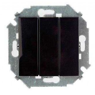 Выключатель трехклавишный Simon 1591391-032 черный