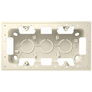 Монтажная коробка для накладного монтажа 2 модуля Simon 2400752-030 слоновая кость