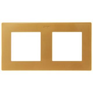 Рамка на 2 поста Simon 2400620-066 золото