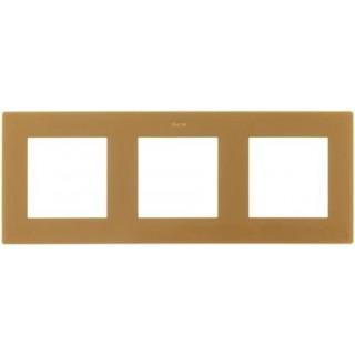 Рамка на 3 поста Simon 2400630-066 золото