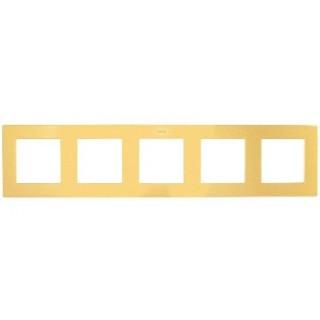 Рамка на 5 поста Simon 2400650-066 золото