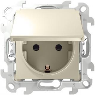 Розетка 2К+З IP44 Push&Go 2420448-031 слоновая кость