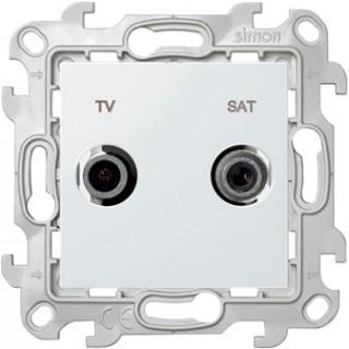 Розетка TV-SAT одиночная Simon 2410487-030 белый