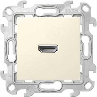 Коннектор HDMI 1.4 Simon 2411094-031 слоновая кость