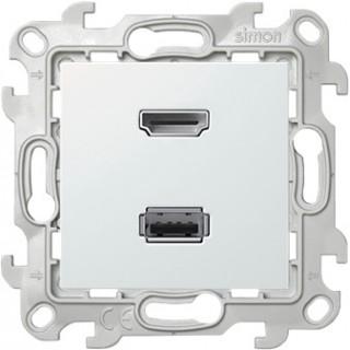 Коннектор HDMI+USB 2.0 Simon 2411095-030 белый