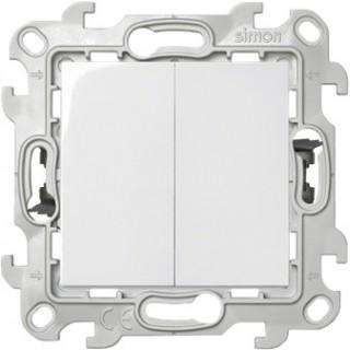 Двухклавишный выключатель Push&Go Simon 2420398-030 белый