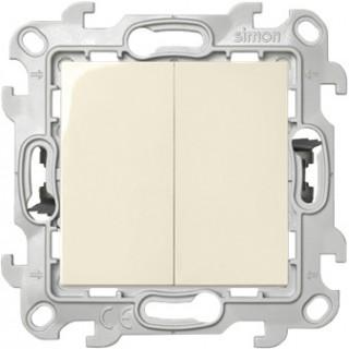 Двухклавишный выключатель Push&Go Simon 2420398-030 слоновая кость