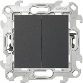 Двухклавишный выключатель Push&Go Simon 2420398-031 графит