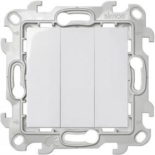 Трехклавишный выключатель Simon 2450391-030 белый