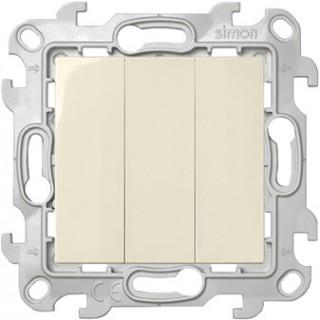 Трехклавишный выключатель Simon 2450391-031 слоновая кость