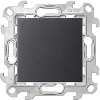 Трехклавишный выключатель Simon 2450391-038 графит