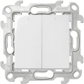 Двухклавишный выключатель Simon 2450392-030 с подсветкой белый