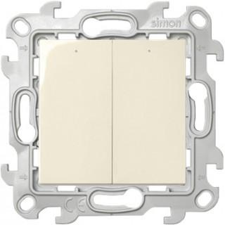 Двухклавишный выключатель Simon 2450392-031 с подсветкой слоновая кость