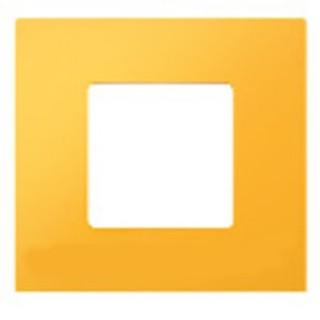 Декоративная накладка на рамку-базу, 1 место, S27Pl, желтый