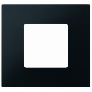 Декоративная накладка на рамку-базу, 1 место, S27Pl, черный