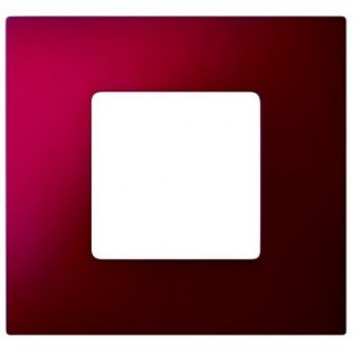 Декоративная накладка на рамку-базу, 1 место, S27Pl, артик красный