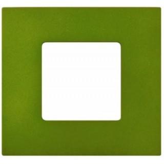 Декоративная накладка на рамку-базу, 1 место, S27Pl, артик зеленый