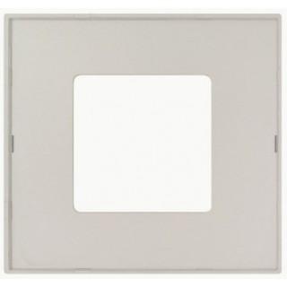 Декоративная накладка на рамку-базу, 1 место, S27Pl, серый прозрачный