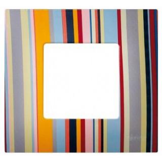 Декоративная накладка на рамку-базу, 1 место, S27Pl, многоцветный поток