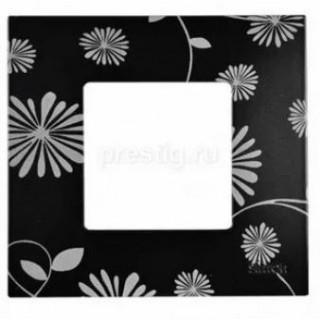 Декоративная накладка на рамку-базу, 1 место, S27Pl,  чёрно-белый