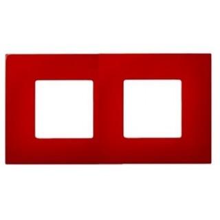 Декоративная накладка на рамку-базу, 2 места, S27Pl, красный