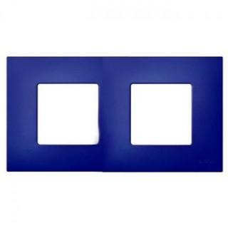 Декоративная накладка на рамку-базу, 2 места, S27Pl, синий
