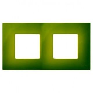 Декоративная накладка на рамку-базу, 2 места, S27Pl, артик зеленый