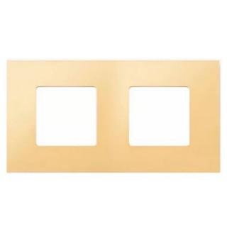 Декоративная накладка на рамку-базу, 2 места, S27Pl, кремовый