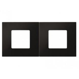 Декоративная накладка на рамку-базу, 2 места, S27Pl, чёрный