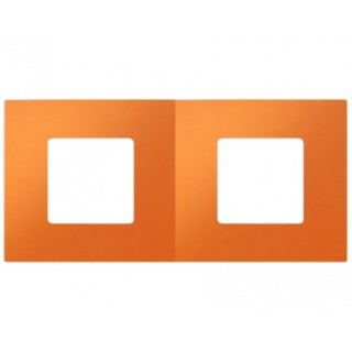 Декоративная накладка на рамку-базу, 2 места, S27Pl, апельсин