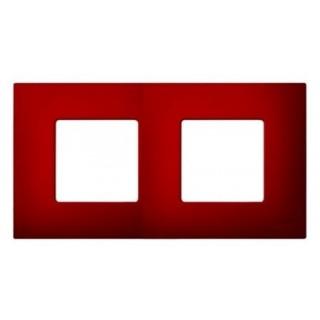 Декоративная накладка на рамку-базу, 2 места, S27Pl, артик красный