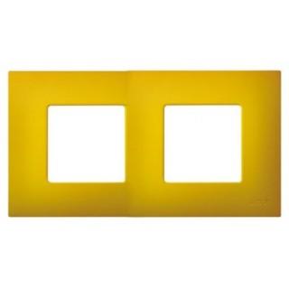 Декоративная накладка на рамку-базу, 2 места, S27Pl, артик жёлтый